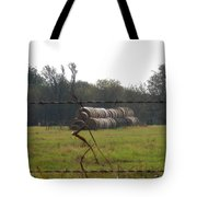 Hay Lined Up Tote Bag