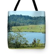 Hay Rolls On A Hill Tote Bag