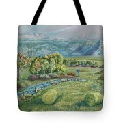 Haying Time In The Valley Tote Bag