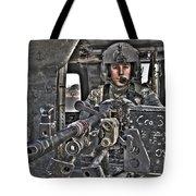 Hdr Image Of A Uh-60 Black Hawk Door Tote Bag