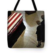 He Casket Of Former President Gerald R Tote Bag
