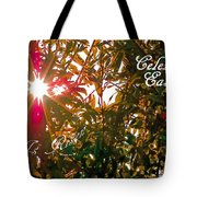 He Is Risen Easter Greeting Tote Bag