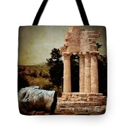 Head At Temple Of Castor And Pollux Tote Bag
