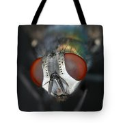 Head Of A Green Blow Fly Tote Bag