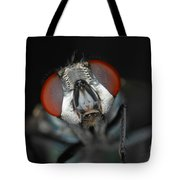 Head Of Green Blow Fly Tote Bag