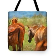 Heading Home Painterly Tote Bag