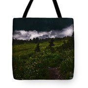 Heading Home Through The Meadow Tote Bag