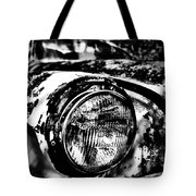 Headlights In The Woods Tote Bag