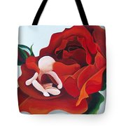 Healing Painting Baby Sitting In A Rose Tote Bag