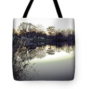 Hearns Pond Reflection Tote Bag