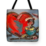 Heart Coffee Cup Tote Bag