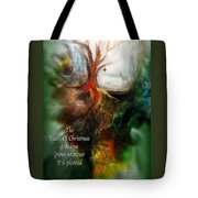 Heart Of Christmas Card Tote Bag