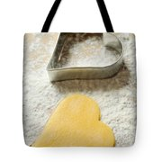 Heart Shaped Christmas Cookie Tote Bag