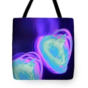 Heart Shaped Glowing Orbs Tote Bag