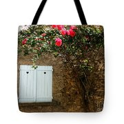 Heart Shutters And Red Roses Tote Bag
