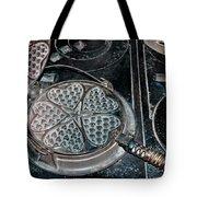 Heart Waffle Iron Tote Bag