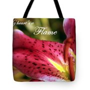 Heart's A Flame Tote Bag