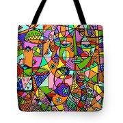 Hearts And Flowers Mermaid Tote Bag