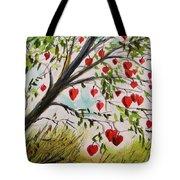 Hearts Grow On Trees Tote Bag