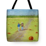 Heather And Poppy Pumpkin Picking Tote Bag