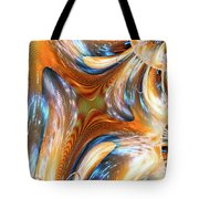 Heatwave Abstract Tote Bag