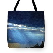 Heaven Opening To Let Out The Sun Painterly Style Tote Bag