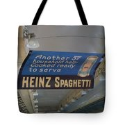 Heinz Spaghetti Train Ad Signage Digital Art Tote Bag