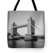 Helicopter At Tower Bridge Tote Bag