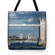 Helicopters And Tower Bridge Tote Bag