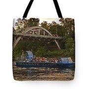 Hellgate Jet Boat And Caveman Bridge Tote Bag