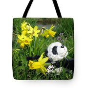Hello Spring. Ginny From Travelling Pandas Series. Tote Bag