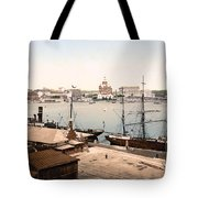 Helsinki Finland - Russian Cathedral And Harbor Tote Bag