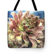 Hen And Chicks Plant Tote Bag