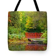 Henes Park Pond Bridge Tote Bag