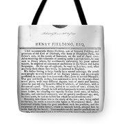 Henry Fielding (1707-1754) Tote Bag