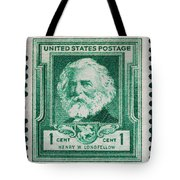 Henry W Longfellow Postage Stamp Tote Bag