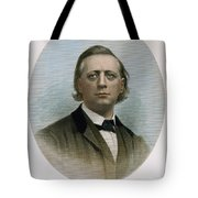Henry Ward Beecher (1813-1887). American Clergyman. At Age 50: Steel Engraving, 19th Century Tote Bag