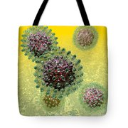 Hepatitis B Virus Particles Tote Bag