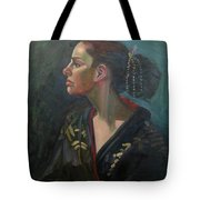 Her Kimono Tote Bag by Lilibeth Andre