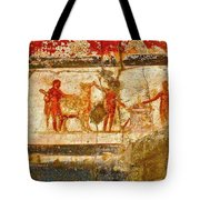 Herculaneum Wall Painting Tote Bag