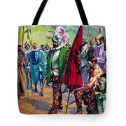 Hernando Cortes Arriving In Mexico In 1519 Tote Bag