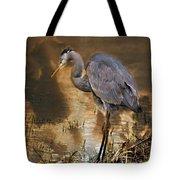 Heron Bronze Tote Bag