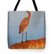 Heron On Palm Tote Bag