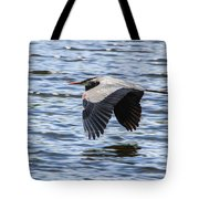 Heron Over Water Tote Bag