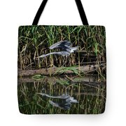 Heron Reflected In The Water Tote Bag