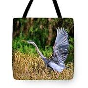 Heron Taking To Flight Tote Bag