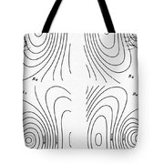 Hertzs Flux Lines Tote Bag by Science Source