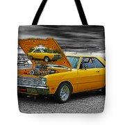 Hi-powered Dodge Abstract Tote Bag
