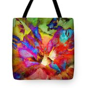 Hibiscus Abstract Tote Bag