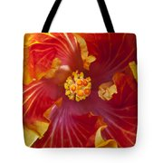 Hibiscus Center Tote Bag